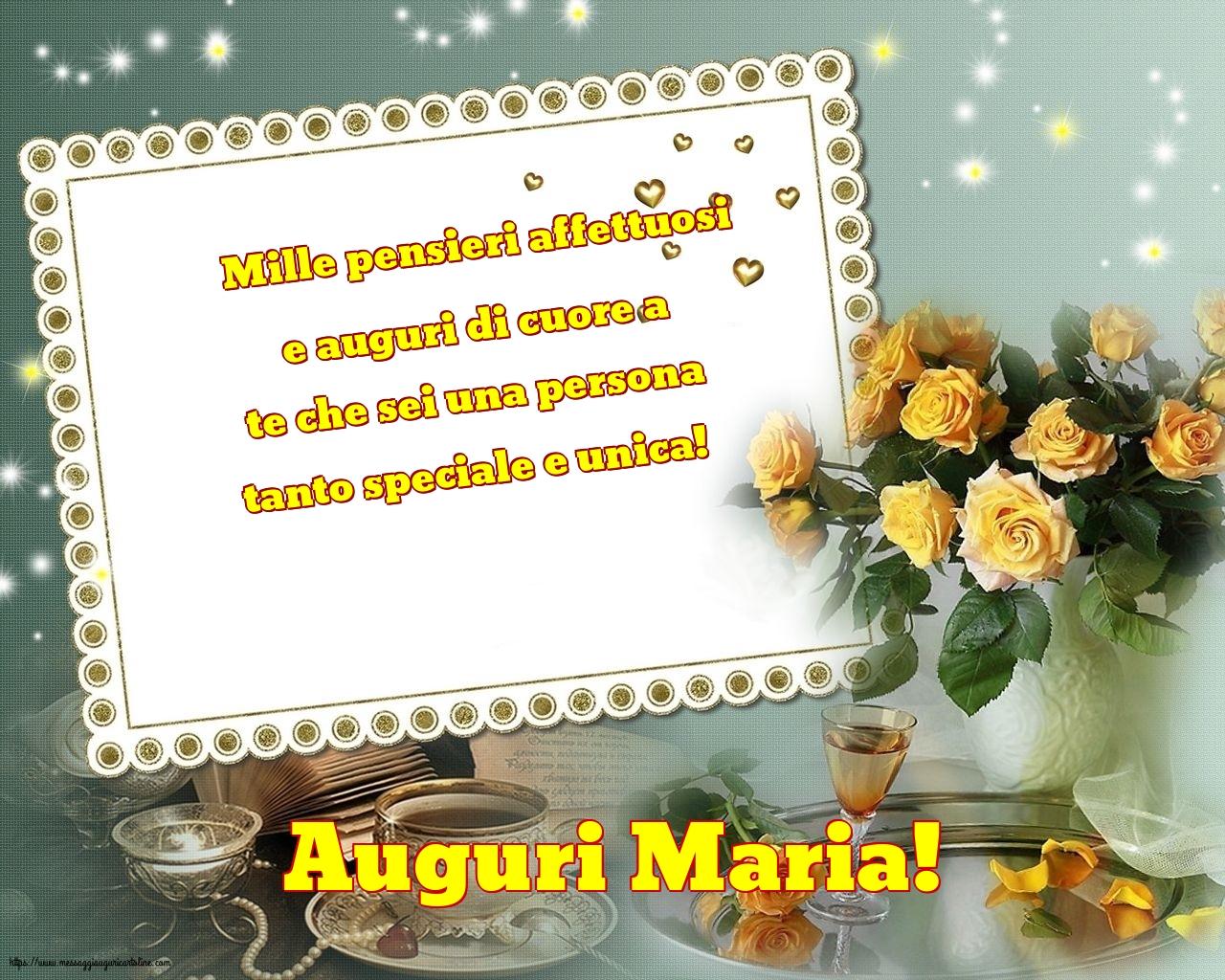 Cartoline per la Natività della Beata Vergine Maria con messaggi - Auguri Maria!