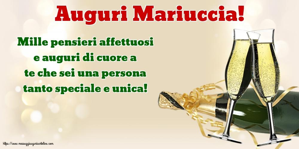 Cartoline per la Natività della Beata Vergine Maria con messaggi - Auguri Mariuccia!