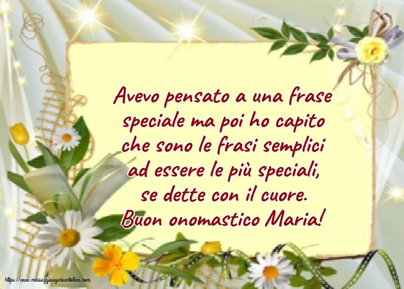 Cartoline per la Natività della Beata Vergine Maria con messaggi - Buon onomastico Maria!