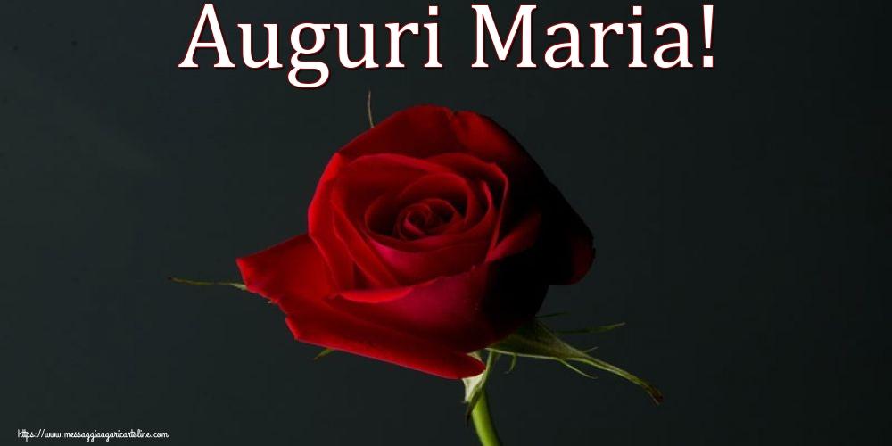Cartoline per la Natività della Beata Vergine Maria con fiori - Auguri Maria!