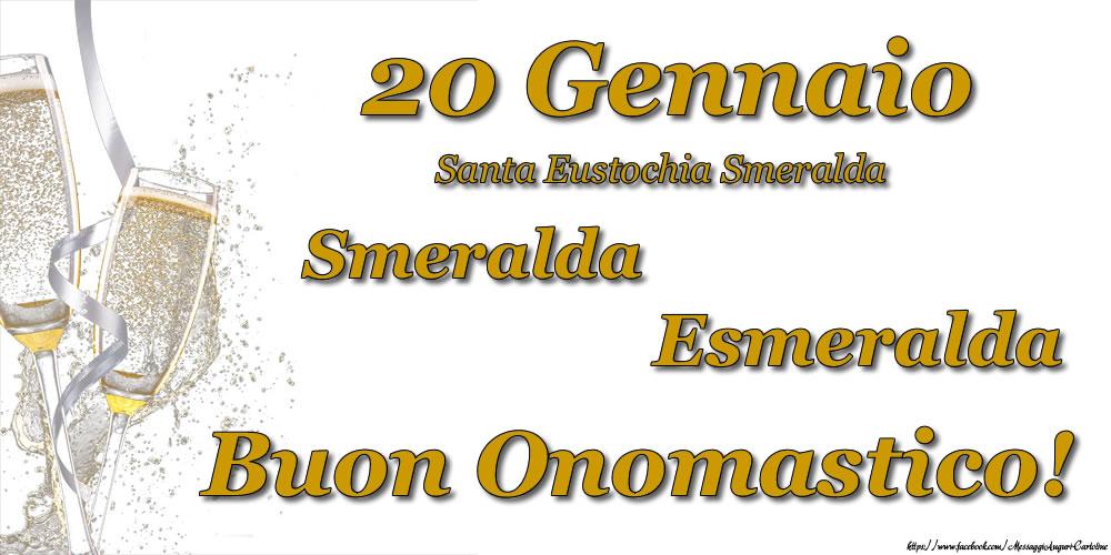 Cartoline di onomastico - 20 Gennaio - Buon Onomastico Smeralda, Esmeralda!