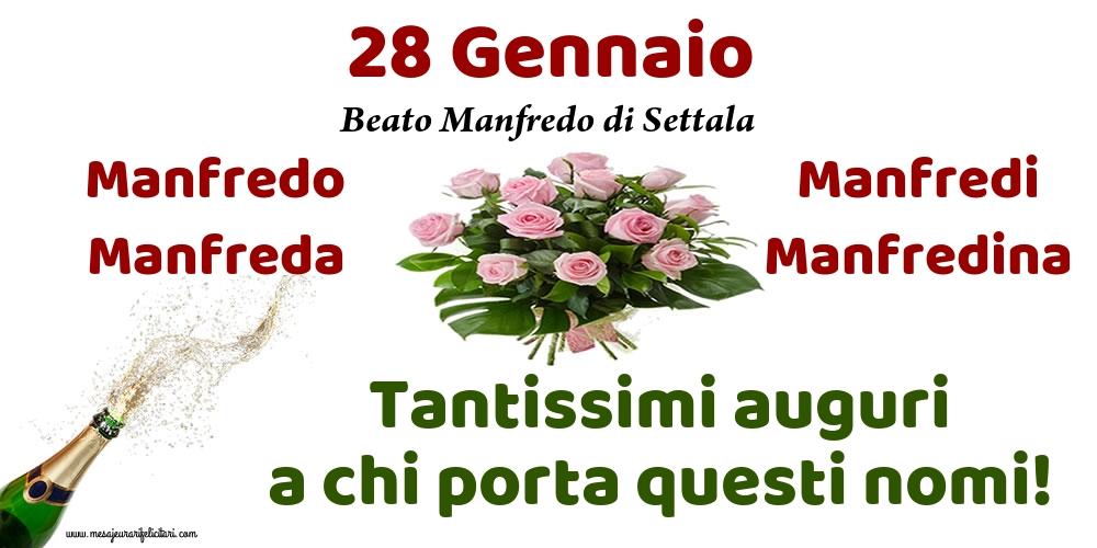 Cartoline di onomastico - 28 Gennaio - Beato Manfredo di Settala
