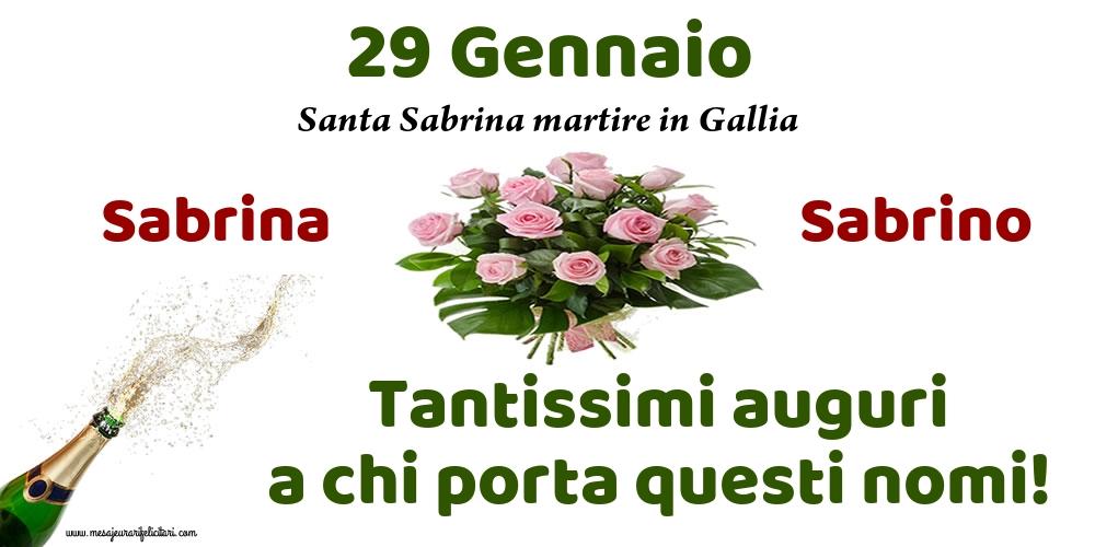 Cartoline di onomastico - 29 Gennaio - Santa Sabrina martire in Gallia
