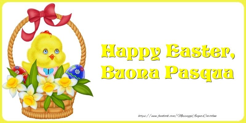 Cartoline di Pasqua - Happy Easter, Buona Pasqua