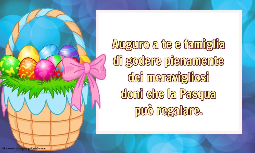 Cartoline di Pasqua - Auguro a te e famiglia