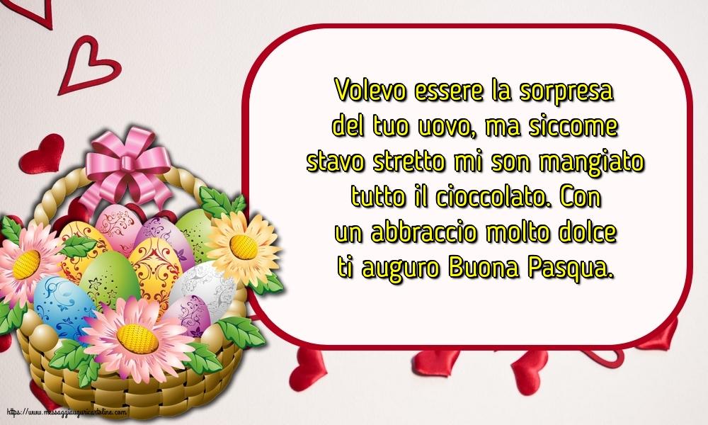 Cartoline di Pasqua - Con un abbraccio molto dolce