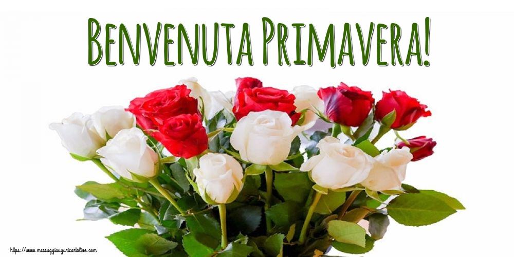Cartoline di primavera con fiori - Benvenuta Primavera!