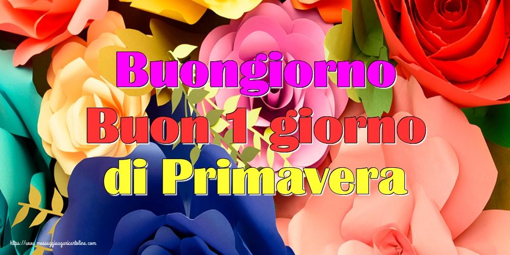 Primavera Buongiorno Buon 1 giorno di Primavera