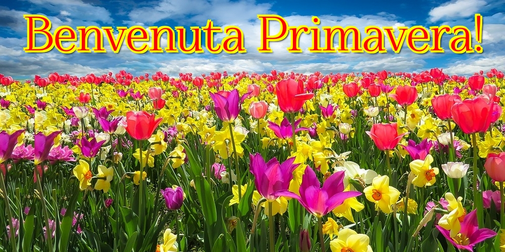 Cartoline di primavera - Benvenuta Primavera!