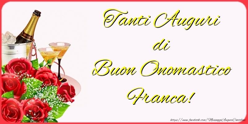 Cartoline di San Francesco - Tanti Auguri di Buon Onomastico Franca!