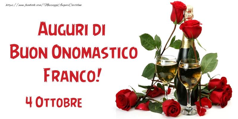 Cartoline di San Francesco - 4 Ottobre Auguri di Buon Onomastico Franco!