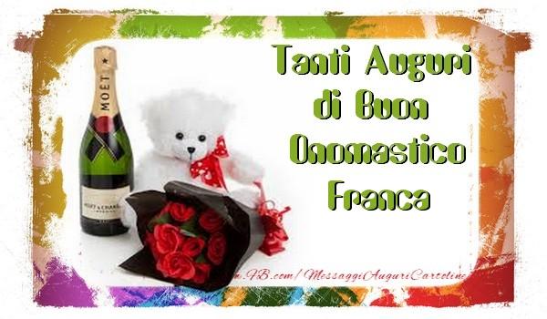 Cartoline di San Francesco - Tanti Auguri di Buon Onomastico Franca