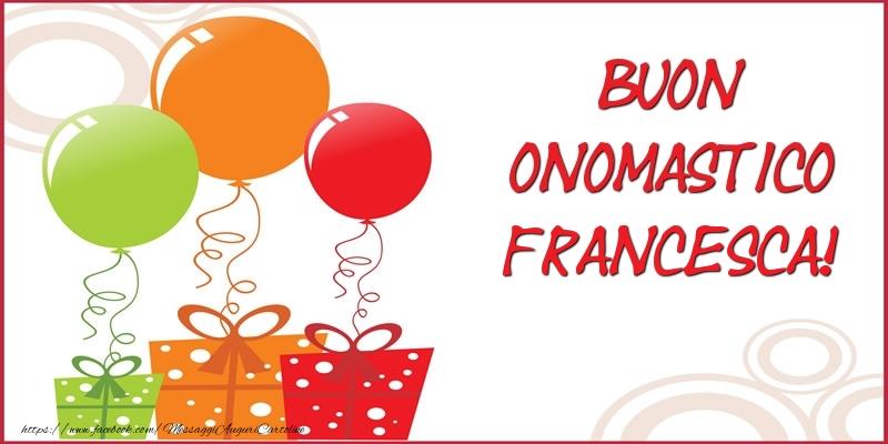 Il più popolari cartoline di San Francesco - Buon Onomastico Francesca!