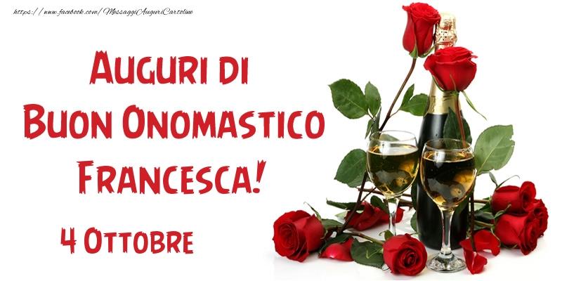 San Francesco 4 Ottobre Auguri di Buon Onomastico Francesca!