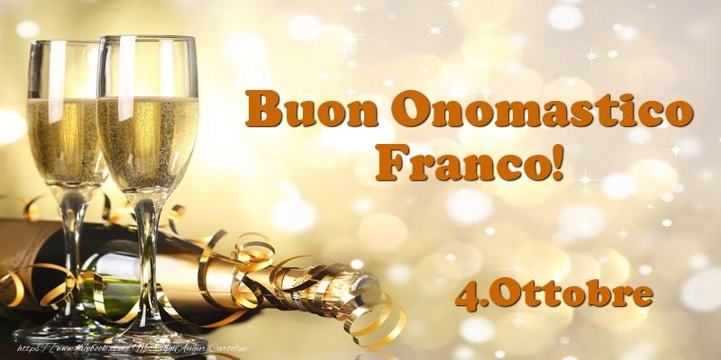 Cartoline di San Francesco - 4.Ottobre  Buon Onomastico Franco!