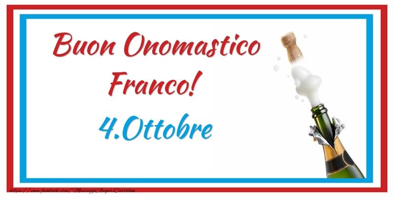 Cartoline di San Francesco - Buon Onomastico Franco! 4.Ottobre
