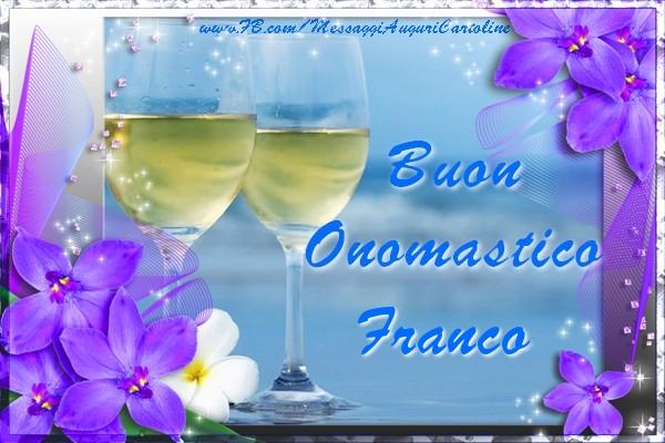Cartoline di San Francesco - Buon Onomastico Franco