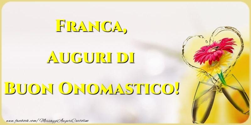 Cartoline di San Francesco - Auguri di Buon Onomastico! Franca