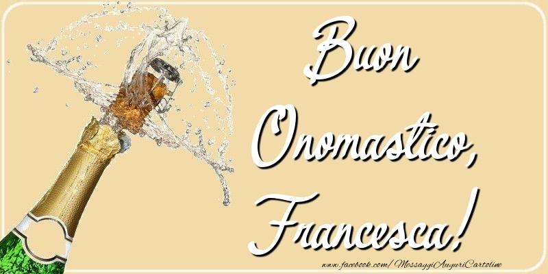 Cartoline di San Francesco - Buon Onomastico, Francesca