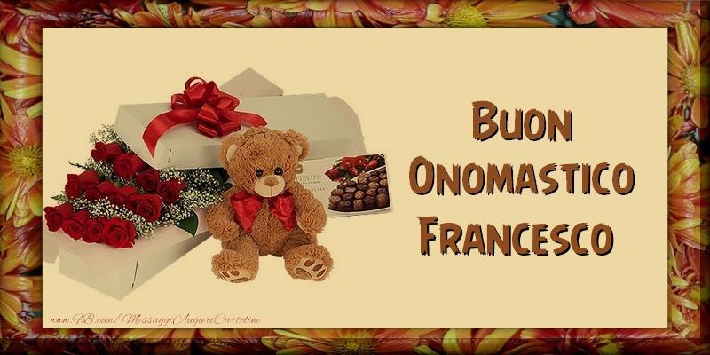 Cartoline di San Francesco - Buon Onomastico Francesco