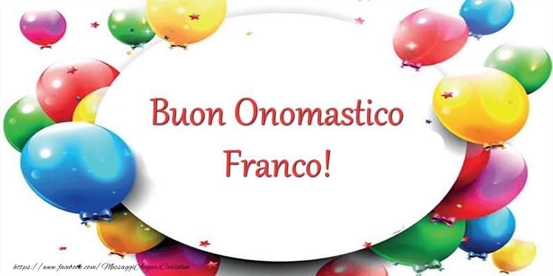 Cartoline di San Francesco - Buon Onomastico Franco!