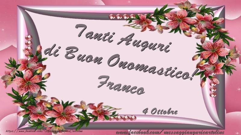 Cartoline di San Francesco - Tanti Auguri di Buon Onomastico! 4 Ottobre Franco