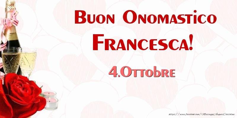 San Francesco Buon Onomastico Francesca! 4.Ottobre