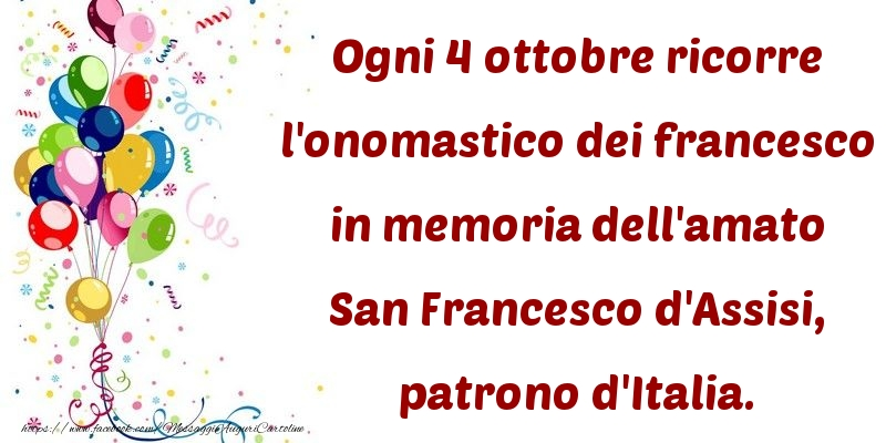 Cartoline di San Francesco - San Francesco d'Assisi, patrono d'Italia. - messaggiauguricartoline.com