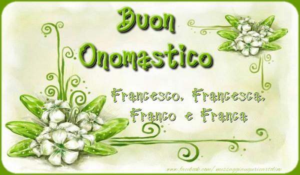 Cartoline di San Francesco - Buon Onomastico - messaggiauguricartoline.com