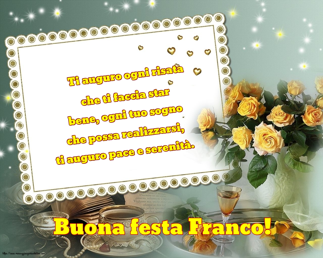 Cartoline di San Francesco - Buona festa Franco!