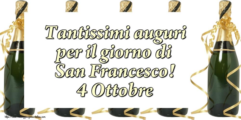 Cartoline di San Francesco - Tantissimi auguri per il giorno di San Francesco! 4 Ottobre