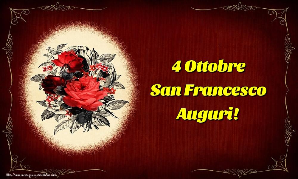 Cartoline di San Francesco - 4 Ottobre San Francesco Auguri!