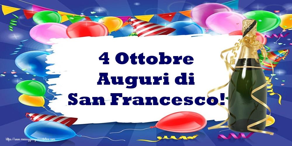Cartoline di San Francesco - 4 Ottobre Auguri di San Francesco!