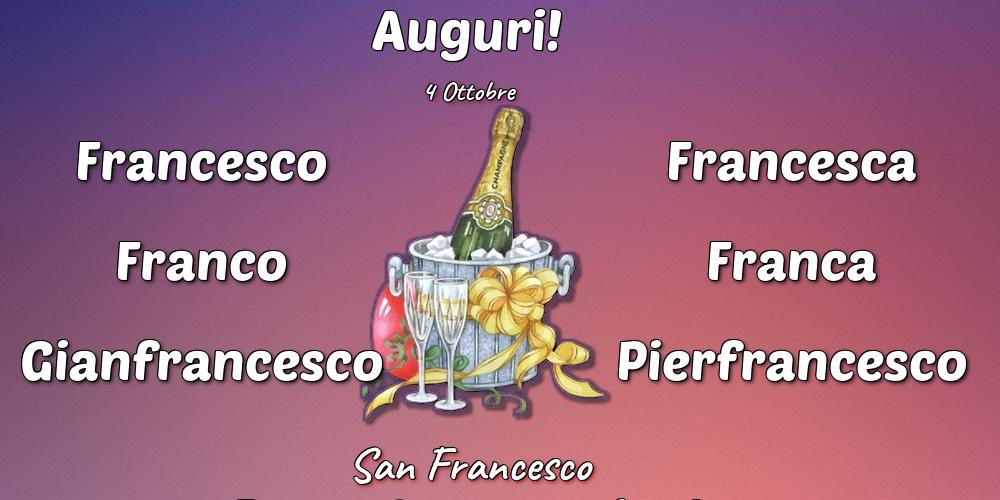 Cartoline di San Francesco - 4 Ottobre - San Francesco