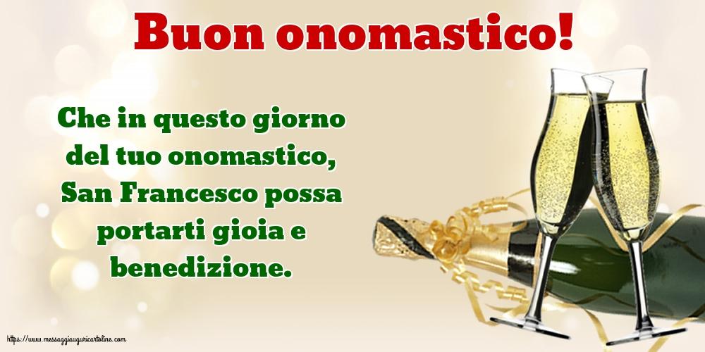 Cartoline di San Francesco - Buon onomastico!