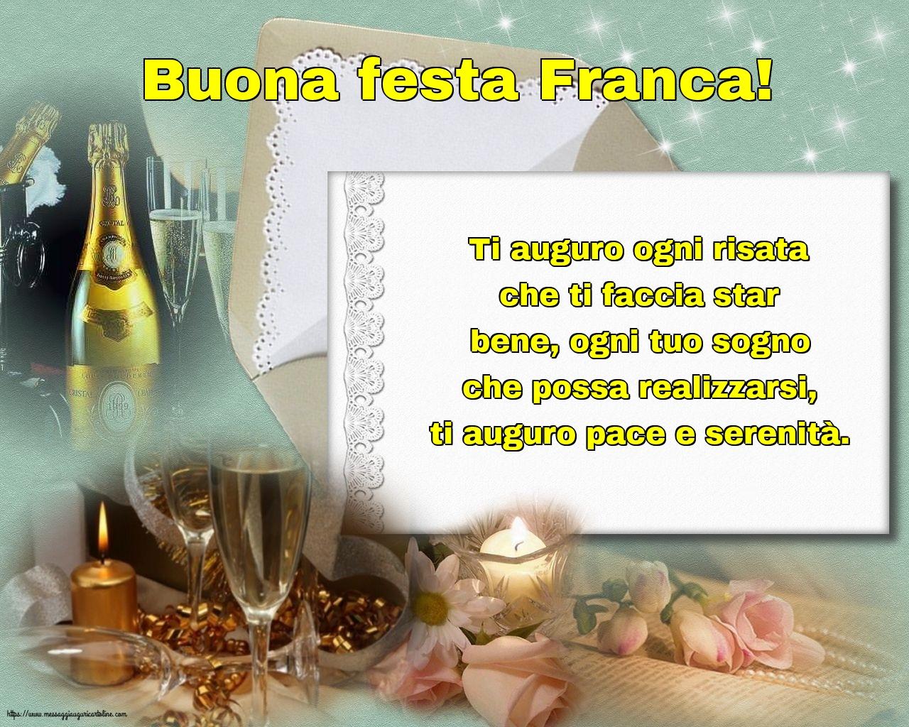 Cartoline di San Francesco - Buona festa Franca!