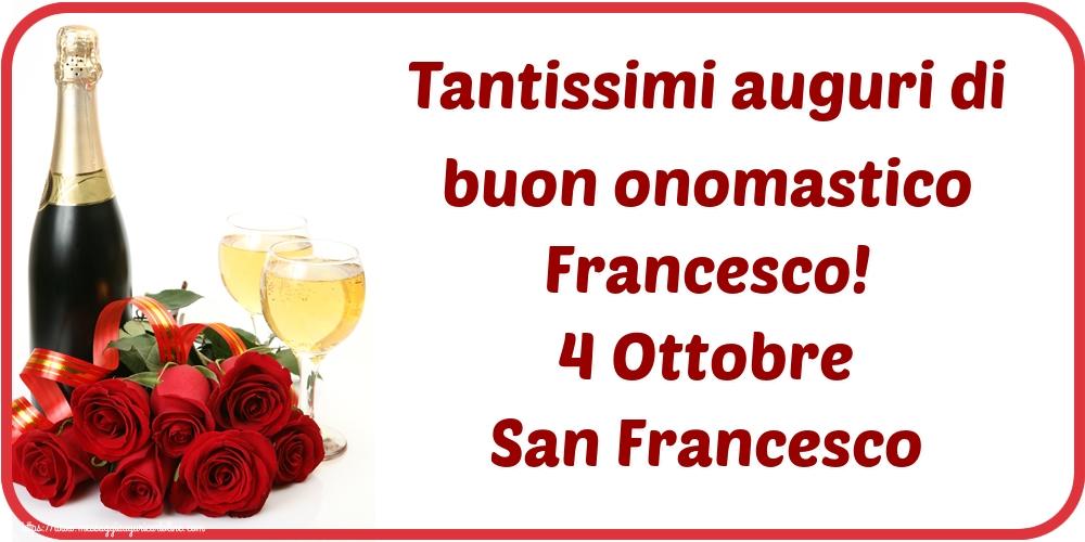 Il più popolari cartoline di San Francesco - Tantissimi auguri di buon onomastico Francesco! 4 Ottobre San Francesco