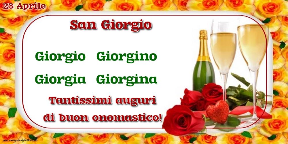 Cartoline di San Giorgio - 23 Aprile - San Giorgio