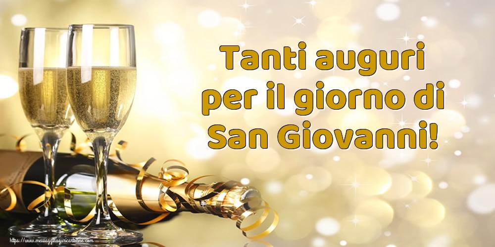 Cartoline per la San Giovanni Battista - Tanti auguri per il giorno di San Giovanni!
