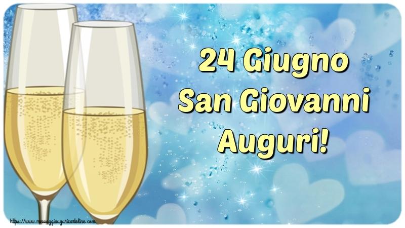 Cartoline per la San Giovanni Battista - 24 Giugno San Giovanni Auguri!