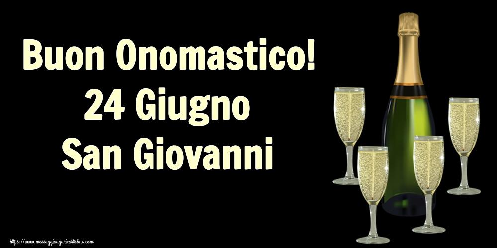 Cartoline per la San Giovanni Battista - Buon Onomastico! 24 Giugno San Giovanni
