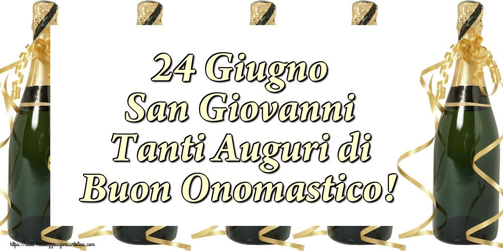 Cartoline per la San Giovanni Battista - 24 Giugno San Giovanni Tanti Auguri di Buon Onomastico!