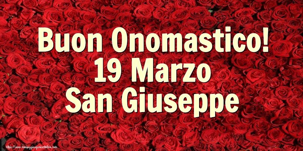 Cartoline di San Giuseppe - Buon Onomastico! 19 Marzo San Giuseppe