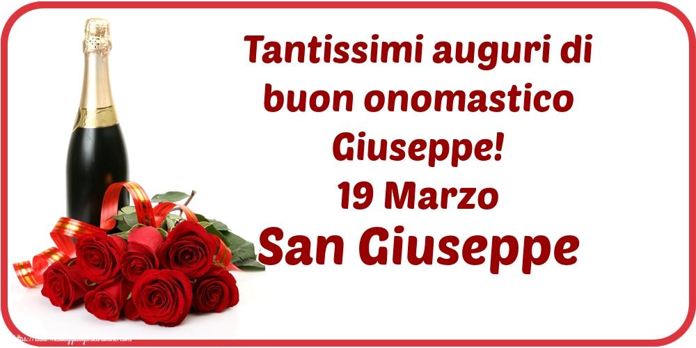 Cartoline di San Giuseppe - Tantissimi auguri di buon onomastico Giuseppe! 19 Marzo San Giuseppe