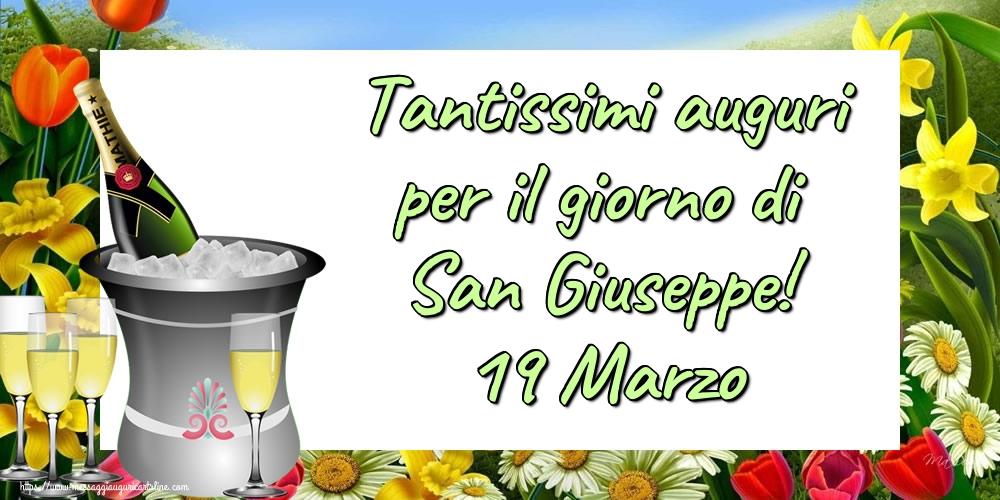 Cartoline di San Giuseppe - Tantissimi auguri per il giorno di San Giuseppe! 19 Marzo