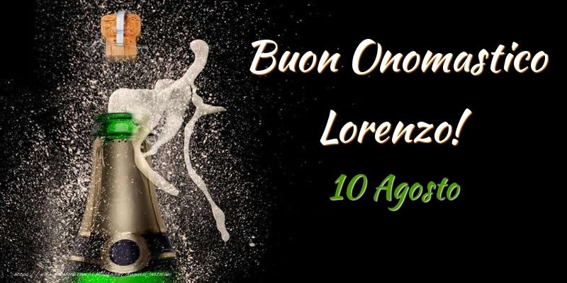 Cartoline di San Lorenzo - Buon Onomastico Lorenzo! 10 Agosto