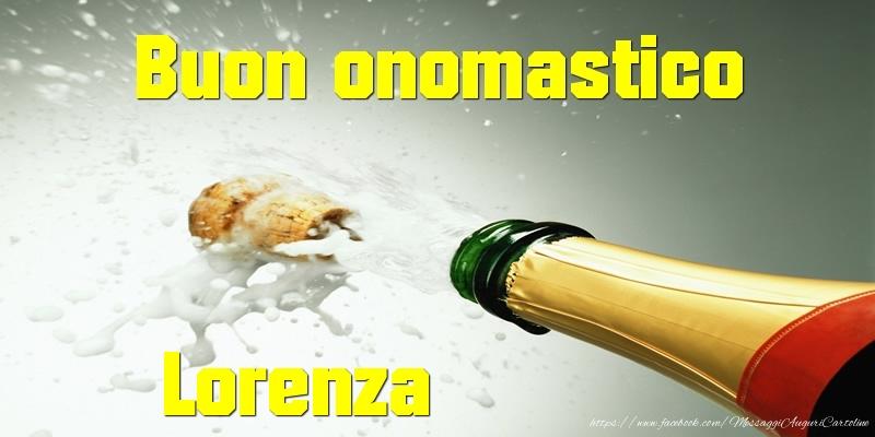 Cartoline di San Lorenzo - Buon onomastico Lorenza