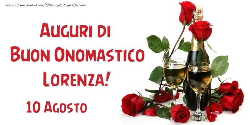 Cartoline di San Lorenzo - 10 Agosto Auguri di Buon Onomastico Lorenza!