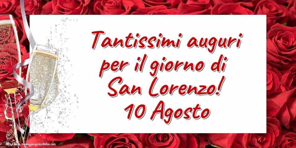 Cartoline di San Lorenzo - Tantissimi auguri per il giorno di San Lorenzo! 10 Agosto