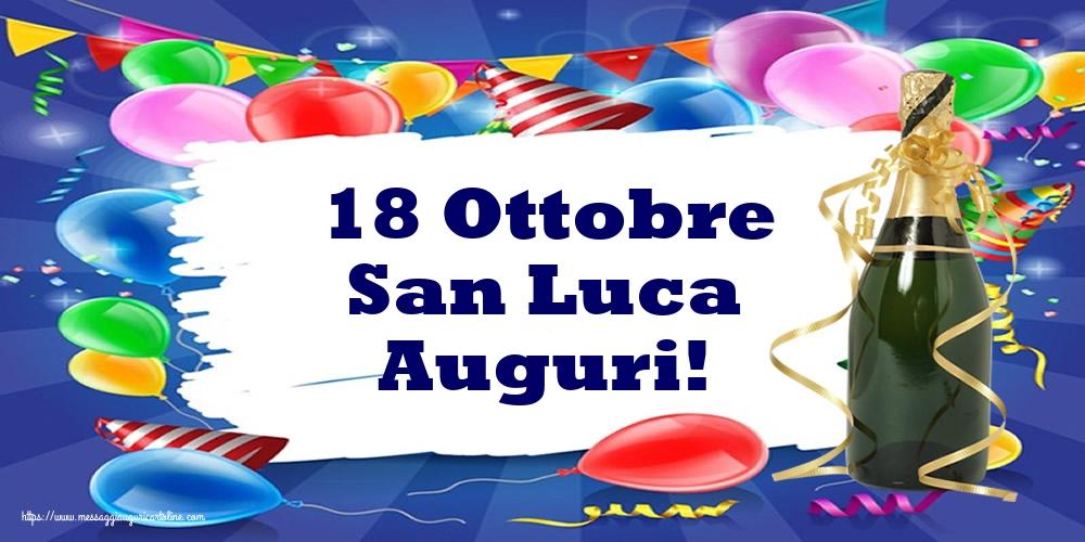 Cartoline di  San Luca - 18 Ottobre San Luca Auguri!
